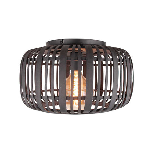Plafondlamp Treccia 40cm - Rotan Zwart