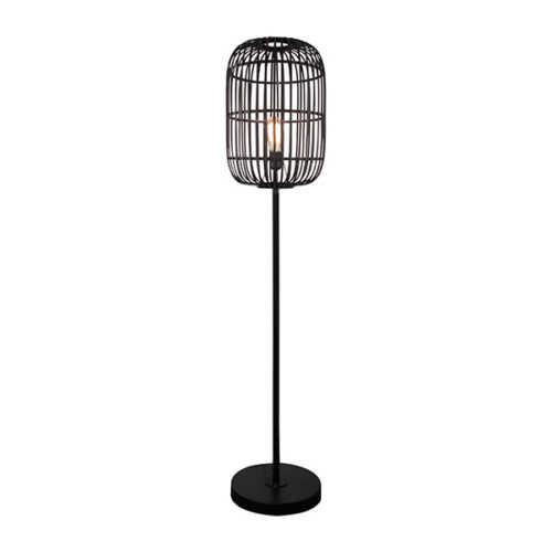 Vloerlamp Treccia - Rotan Zwart