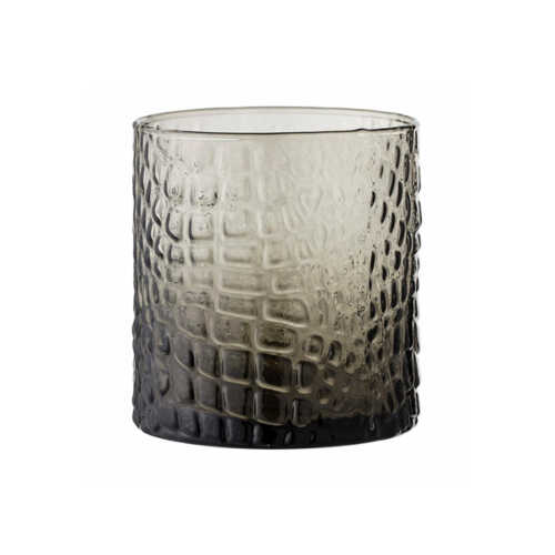 Bloomingville Theelicht Selime glas - Grijs