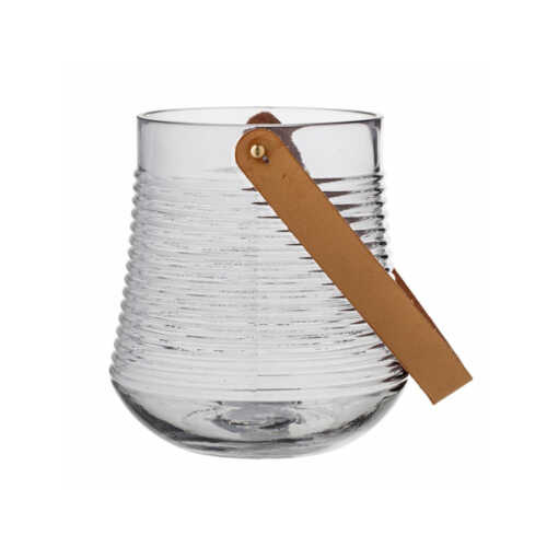 Bloomingville Lantaarn Kasra glas 17cm - Grijs