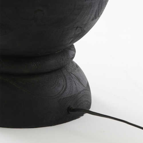 Vloerlamp 30x130cm NICOLO hout - Zwart