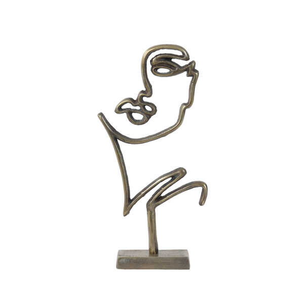 Ornament FACE 33,5cm - Antiek Brons / Goud
