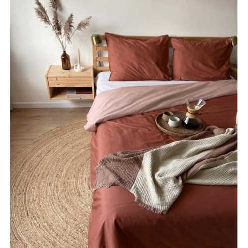 Covers & Co Two in one Roestbruin/Roze - 140x220cm