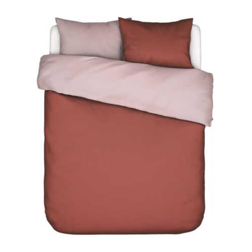 Covers & Co Two in one Roestbruin/Roze - 200x220cm