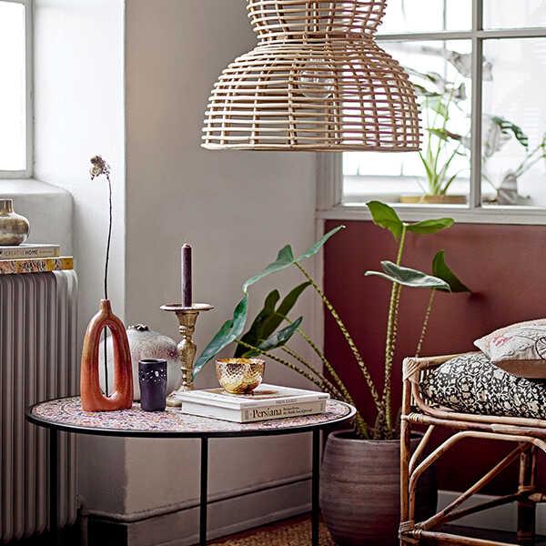 Bloomingville Vaas Baldrian keramiek - Oranje/Roze