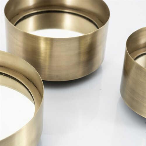Spiegel set/3 Scoop - Bronze Gold