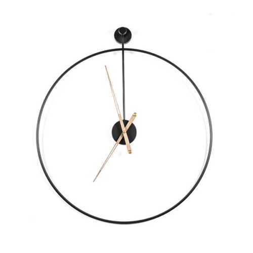 Klok Sundial large - Black