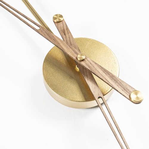 Klok Sundial large - Gold