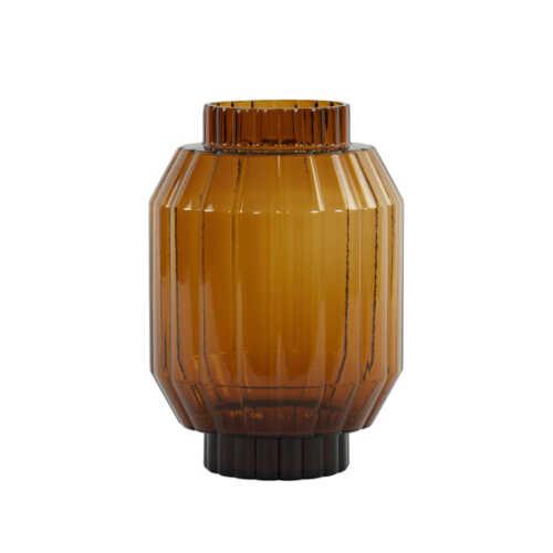 Vaas 19,5x28,5cm LIVIA glas - Bruin