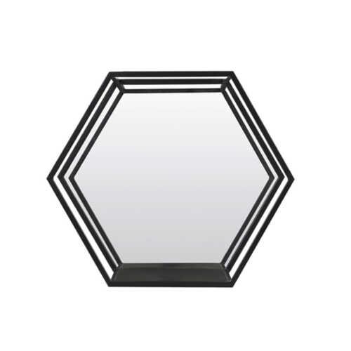 Wandrek met spiegel HUAL - Mat Zwart