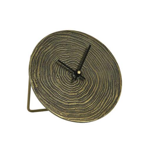 Klok ALOCIL 15cm Swirl - Antiek Brons