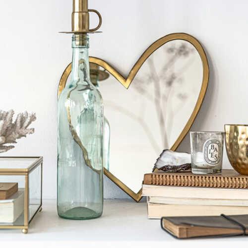 vtwonen Spiegel Heart 30cm - Goud