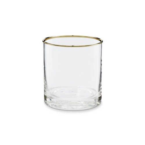 vtwonen Glas 8x10cm met gouden rand - Glad