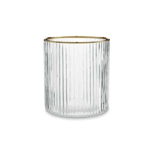 vtwonen Glas 10x11cm met gouden rand - Streep
