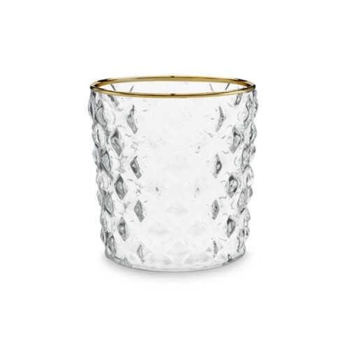 vtwonen Glas 9,5x10cm met gouden rand - Ruit